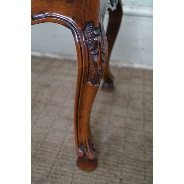 Italian Made French Louis XV Style Cane Seat Bench - Image 6 of 10