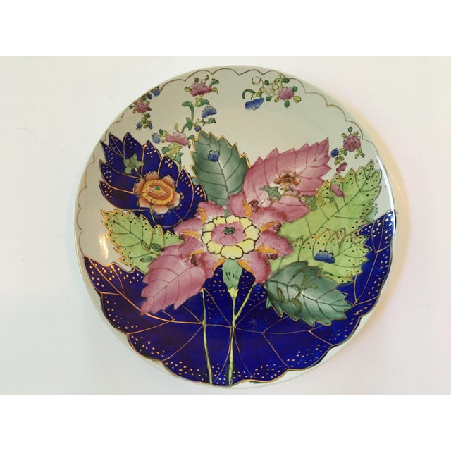 Vintage Hand Painted Tobacco Leaf Decorative Plate For Sale - Image 11 of 13