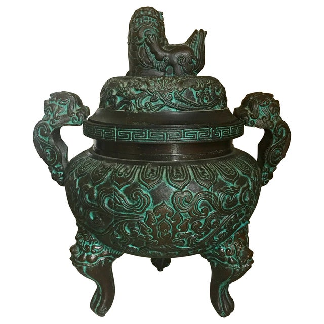 Midcentury James Mont Style Asian Style Greek Key Ice Bucket Urn For Sale - Image 13 of 13