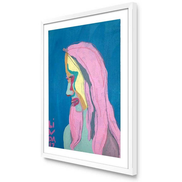 """Abstract Contemporary Abstract Portrait Painting """"She's Got All-New Everything"""" - Framed For Sale - Image 3 of 5"""