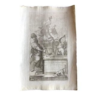 Antique Print- 18th Century Etching For Sale