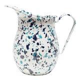 Image of Crow Canyon Home Enamelware Catalina Large Pitcher in Blue Tides For Sale