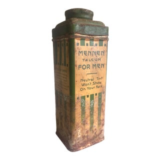 """Mennen Talcum for Men"" Metal Tin Container For Sale"
