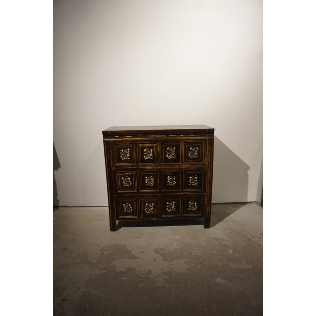 Antique Chinese Elm Wood Apothecary Cabinet - Image 2 of 5