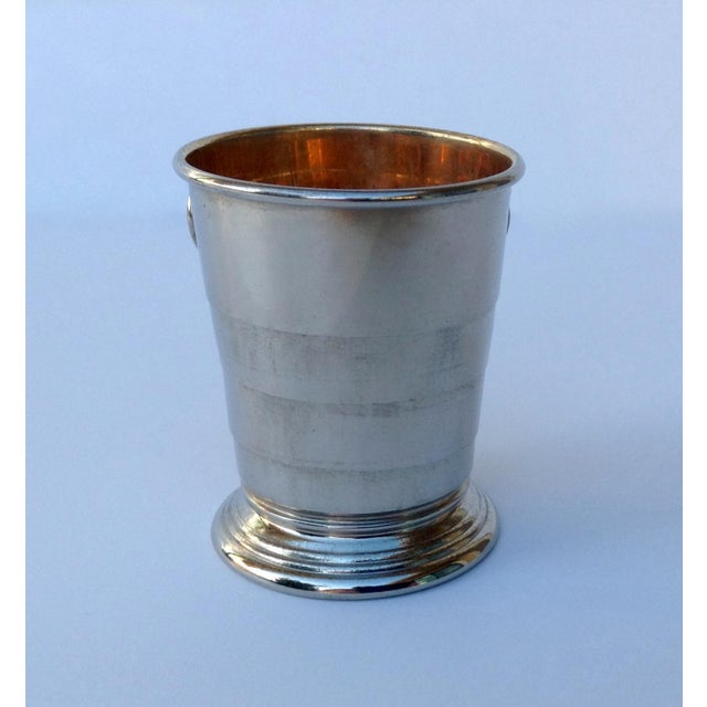 Rare C.F. Rumpp & Sons Silver Plate Collapsible Gentleman's Traveling Cup For Sale - Image 9 of 11