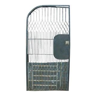 Wrought Iron Half Arched Door