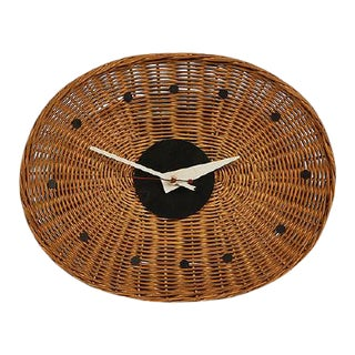 George Nelson Associates Basket Clock, for Howard Miller, Circa 1950