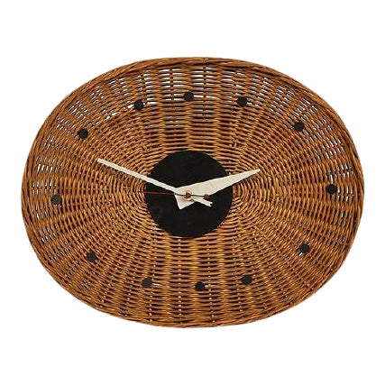 George Nelson Associates Basket Clock, for Howard Miller, Circa 1950 For Sale
