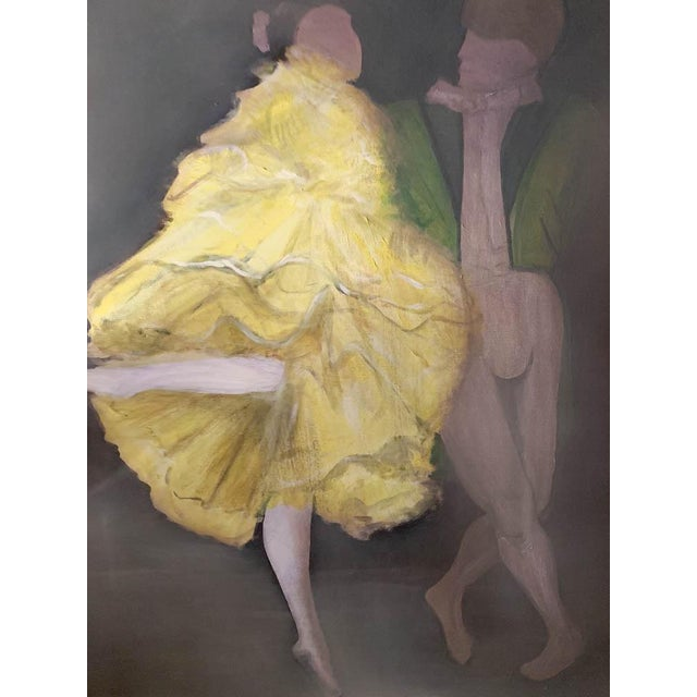 Boho Chic Large Oil on Canvas Painting - Dancers For Sale - Image 3 of 8