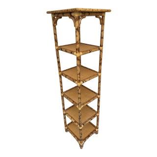 Fire Bamboo Narrow Shelf. For Sale