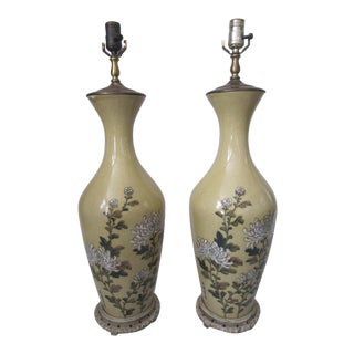 Vintage Chinese Porcelain Lamps - a Pair For Sale
