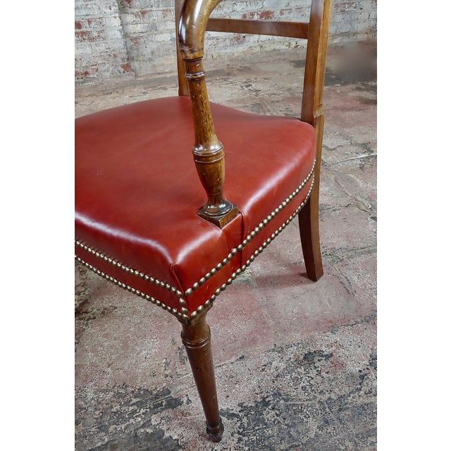 1820s Vintage George IV Mahogany Arm Chairs-Set of 4 For Sale - Image 9 of 10