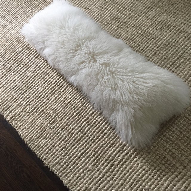Mongolian Fur Lumbar Pillow - Image 5 of 7