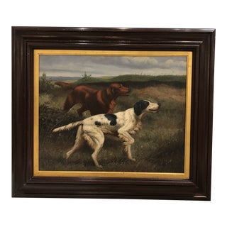20th Century Oil Painting of Dogs For Sale