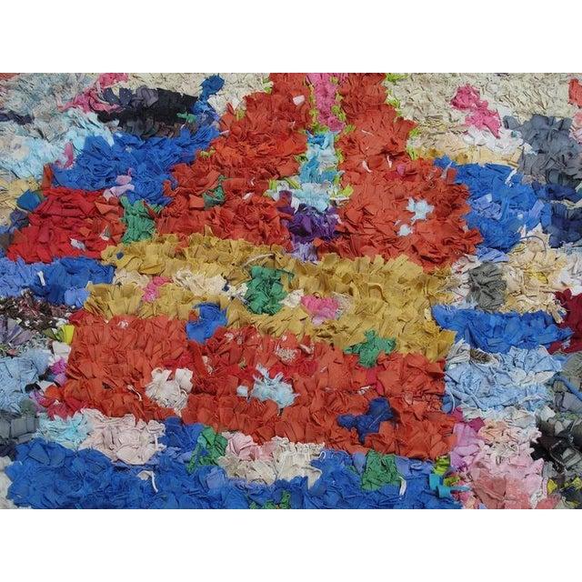 "Moroccan ""Boucherouite"" Rug For Sale - Image 4 of 9"