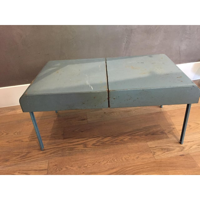 """1990s Vintage Metal Picnic """"Suitcase"""" For Sale - Image 5 of 7"""