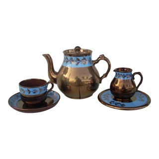 Copper Lustreware Tea Service