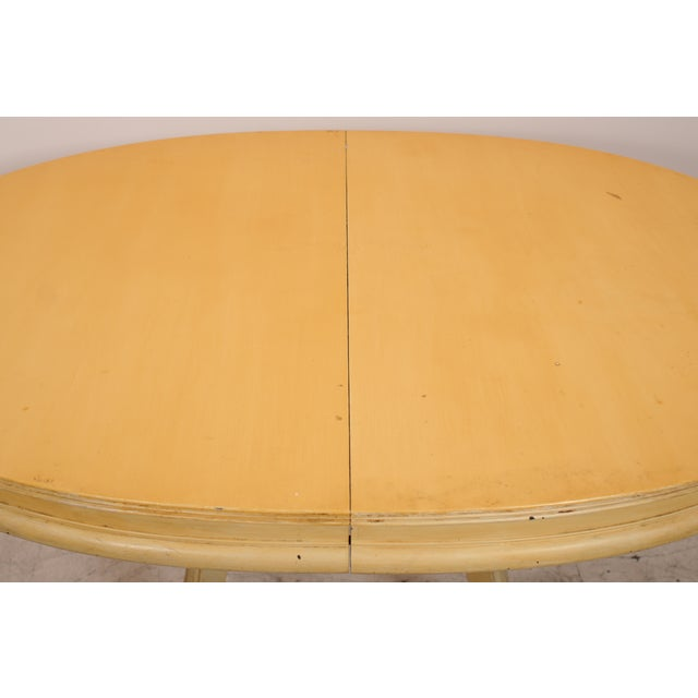 Oval Yellow Kitchen Table - Image 3 of 6