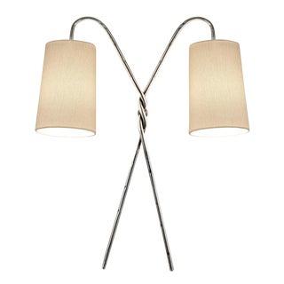 Antique Florentine Twist Silver Leaf Wall Light For Sale