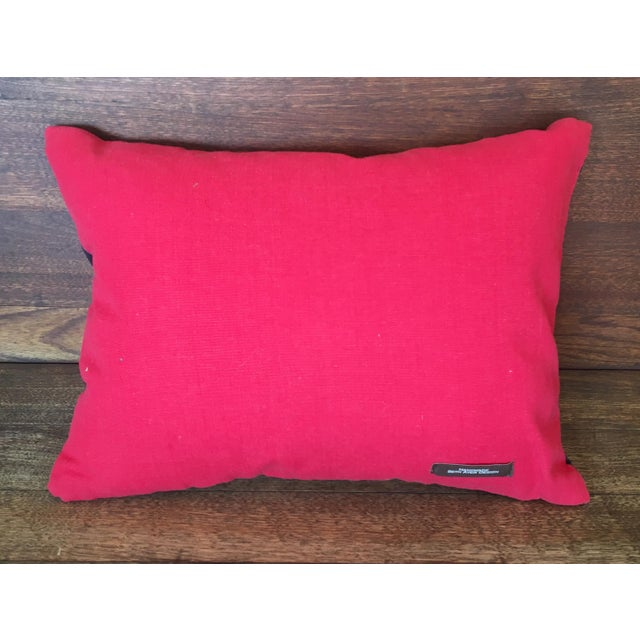 Beth Ayer Design Multicolor Mola Cloth Pillow For Sale - Image 4 of 5