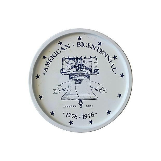 9-Piece Liberty Bell Tin Tray with Coasters - Image 5 of 5