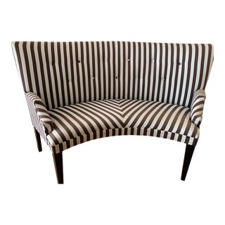 Mitchell Gold + Bob Williams Striped Finley Dining Bench Settee For Sale