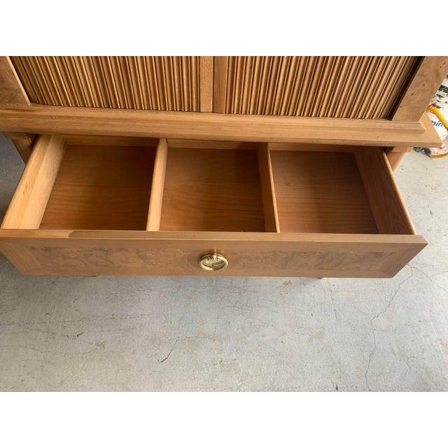 1960s Mid-Century Burled Wood Highboy Dresser For Sale - Image 5 of 13