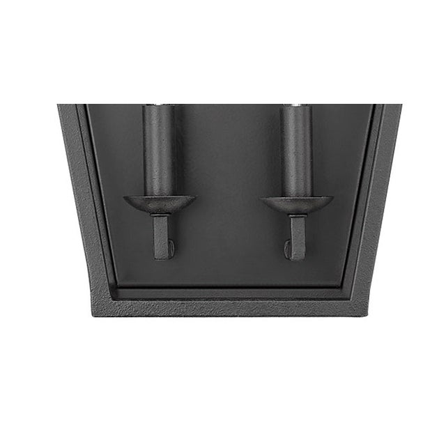 Traditional Ponce City 2 Light Sconce, Forged Black For Sale - Image 3 of 8