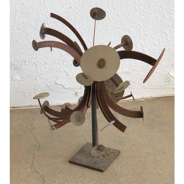 Brown Frank Cota Brutalist Metal Table Sculpture For Sale - Image 8 of 12