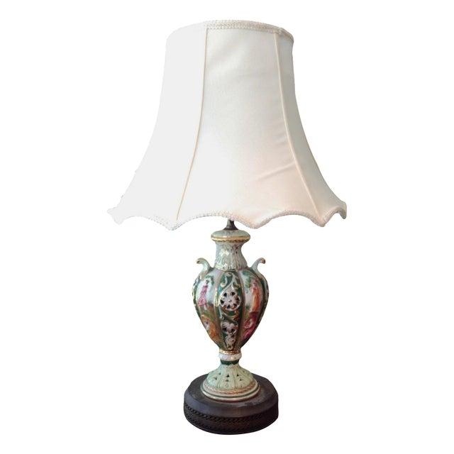 Antique italian capodimonte style table lamp chairish antique italian capodimonte style table lamp aloadofball Gallery