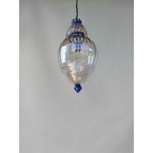 1920s Large Art Deco Murano Glass Lantern For Sale - Image 5 of 7