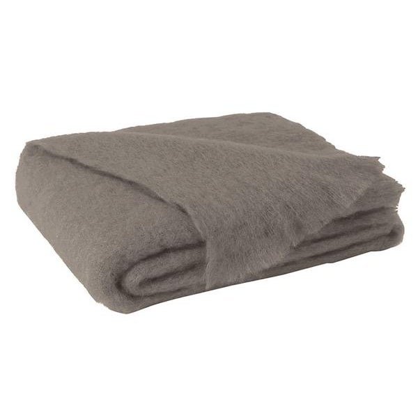 Transitional Ashwood Brown Brushed Mohair Throw For Sale - Image 3 of 3