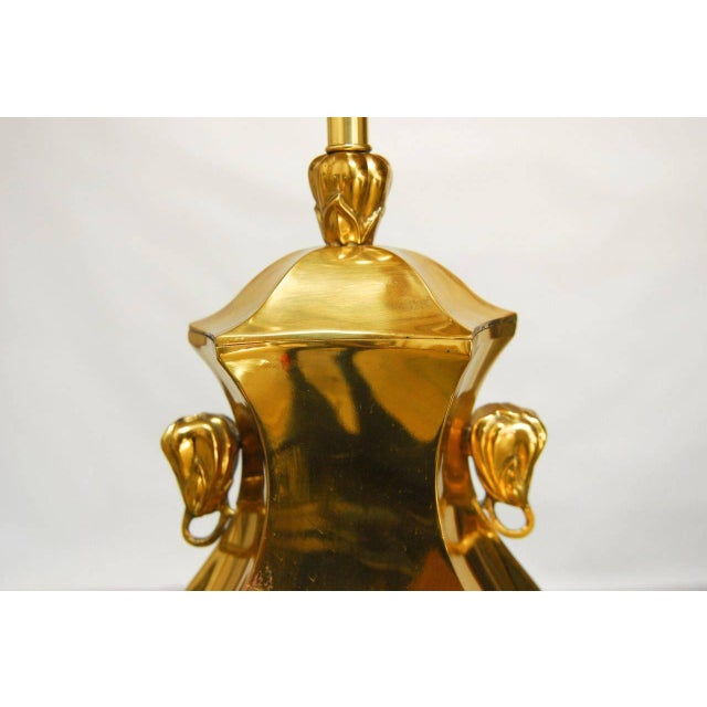 Marboro Chinoiserie Cast Brass Table Lamp - Image 2 of 5