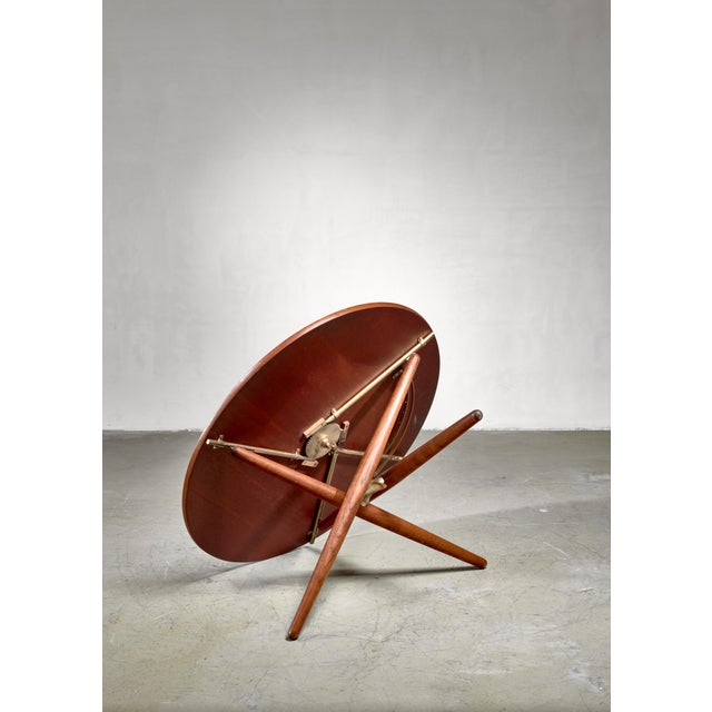 Jurg Bally Jurg Bally Height-Adjustable Ess-Tee Table for Wohnhilfe, Switzerland For Sale - Image 4 of 6