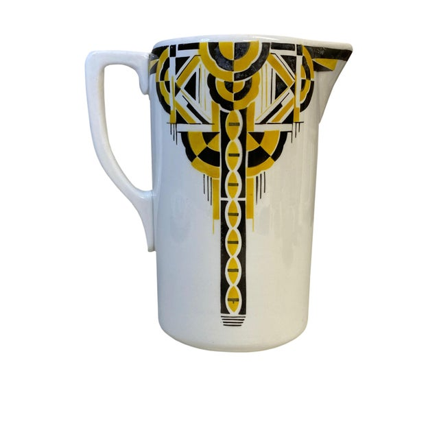Art Deco Pitcher and Bowl - a Set For Sale - Image 4 of 12