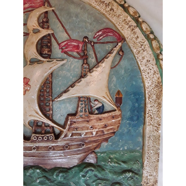 Late 19th Century Antique Nautical Wall Plaque For Sale - Image 5 of 8
