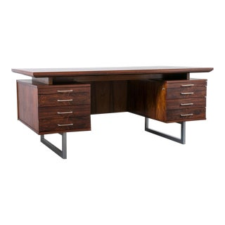 Mid-Century Modern Rosewood Executive Desk