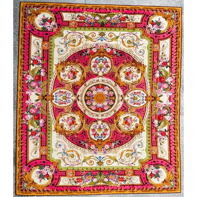 1920's antique English Chenille rug Approximately 12 by 15 feet.