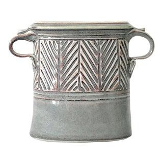 Jim Simister Porcelain Studio Pottery Vase For Sale