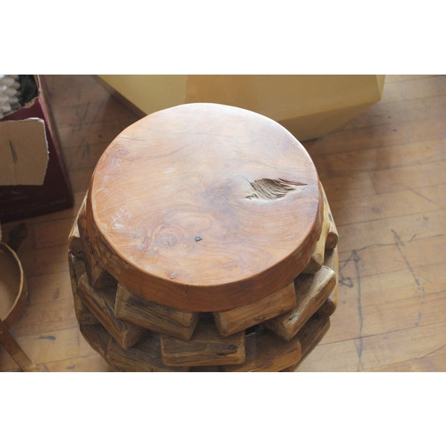 Modern Handmade Accent Table or Stool For Sale - Image 4 of 5