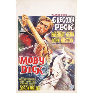 Moby Dick 1956 Belgian Film Poster For Sale