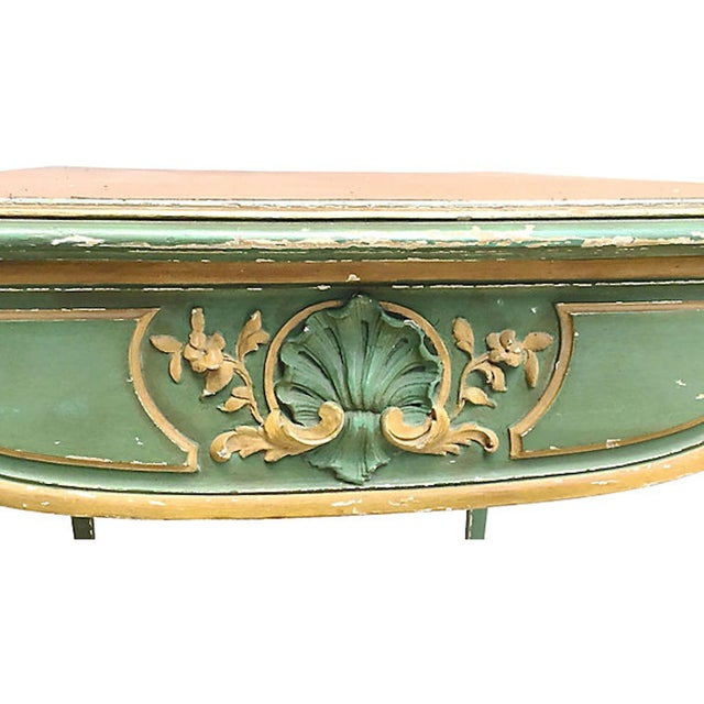 19th Century French Carved Wood & Leather Writing Desk For Sale In Atlanta - Image 6 of 9