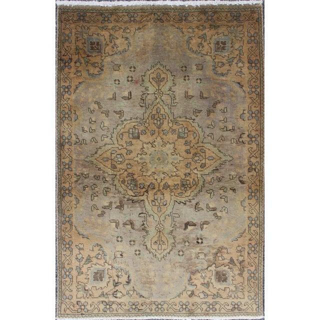 Textile Semi Antique Tabriz Rug - 3′ × 4′9″ For Sale - Image 7 of 7