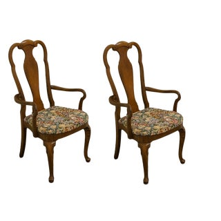 Thomasville Furniture Carlton Hall Collection Dining Arm Chairs 805-95- A Pair For Sale