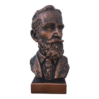 Mid 20th Century Plaster Bust of a Gentleman For Sale