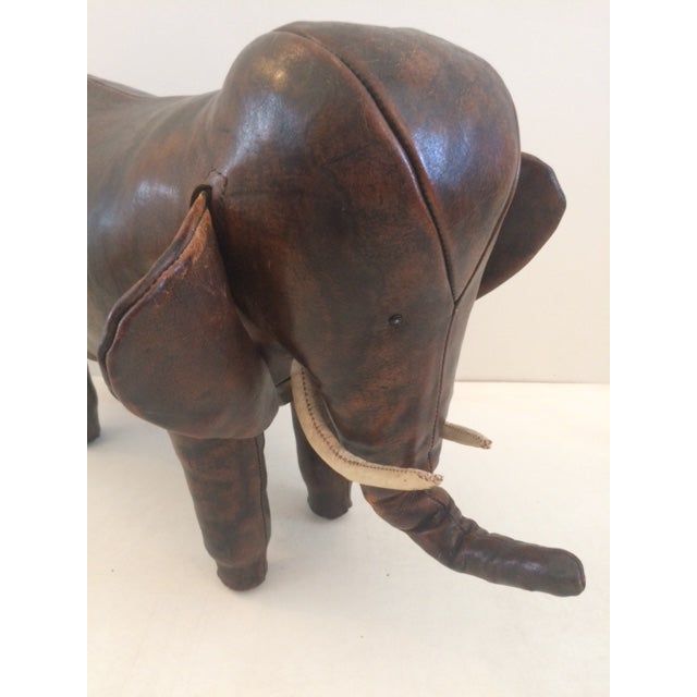 Vintage Omersa for Abercrombie & Fitch Leather Elephant For Sale - Image 11 of 13