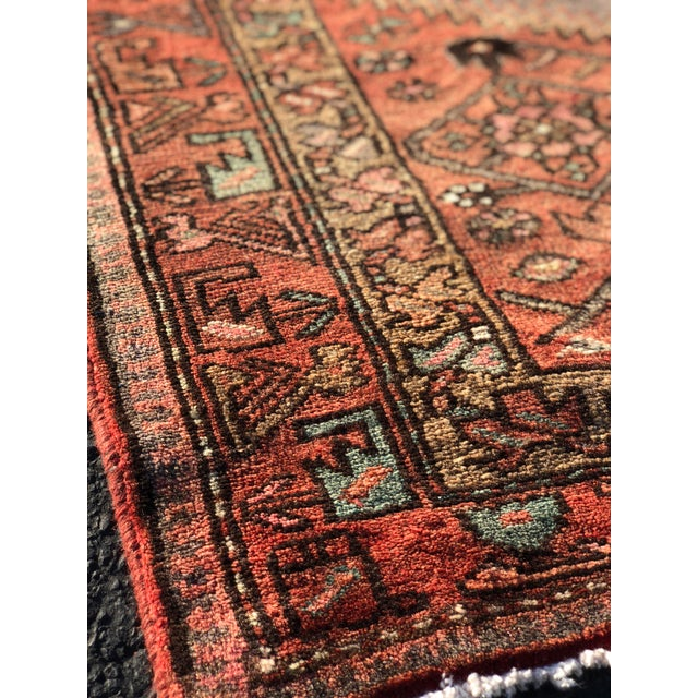 1940s Vintage Persian Hosenibad Runner Rug - 3′7″ × 10′2″ For Sale - Image 4 of 12