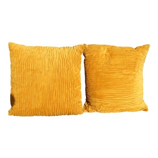 Mid C. '70s Down Filled Pillows - A Pair For Sale