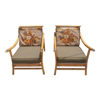 Vintage Bamboo Side Chairs - A Pair For Sale