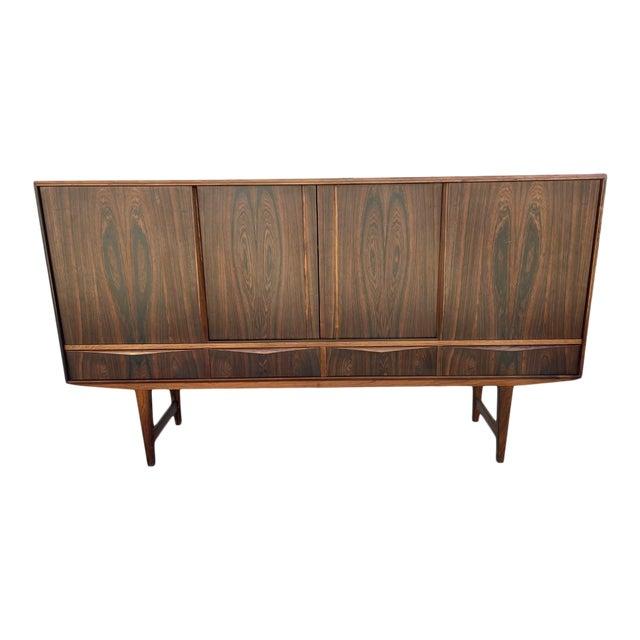 Arne Vodder Style Rosewood Highboard For Sale